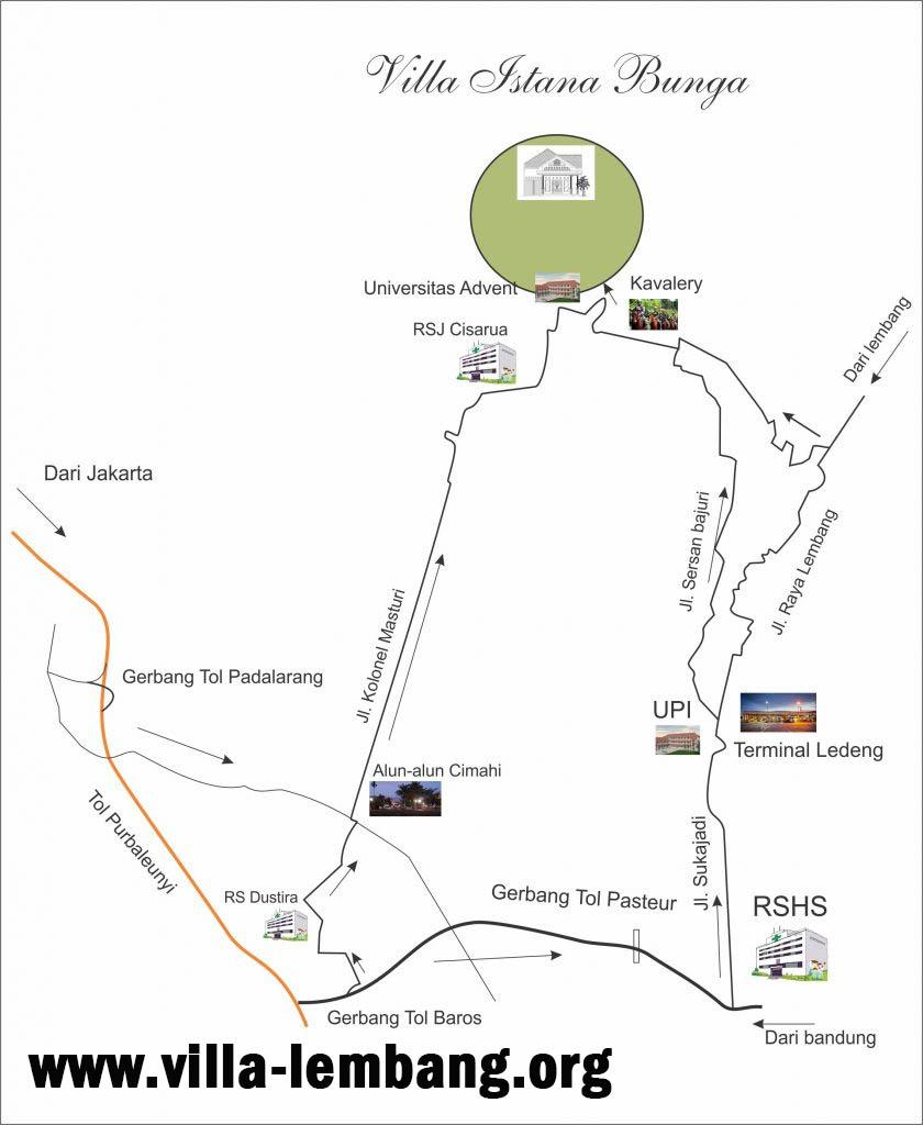 lokasi villa istana lembang bandung, villa lembang, vib