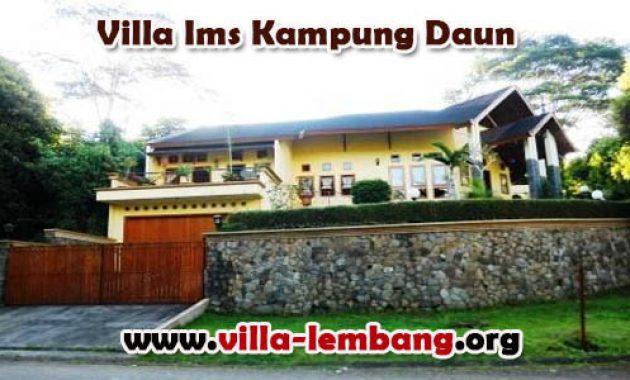 sewa villa di lembang, sewa villa dekat wisata kampung daun lembang