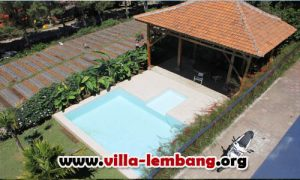 villa di lembang bandung ada private pool