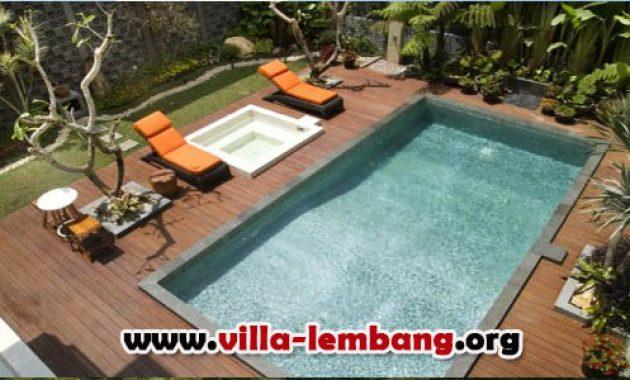 villa di lembang fasilitas kolam renang pribadi