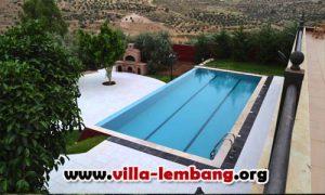 villa murah di lembang kolam renang baru