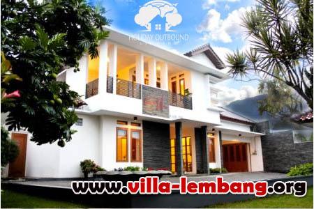 villa murah kapasitas 50 orang di lembang, sewa villa untuk rombongan