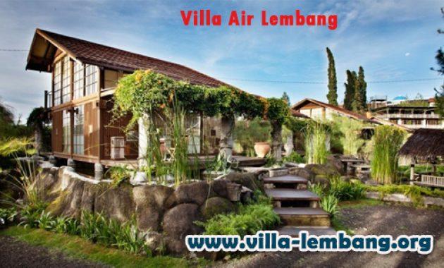 Villa Air Lembang, sewa villa air di lembang