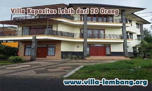 villa besar di lembang kapasitas 20 orang